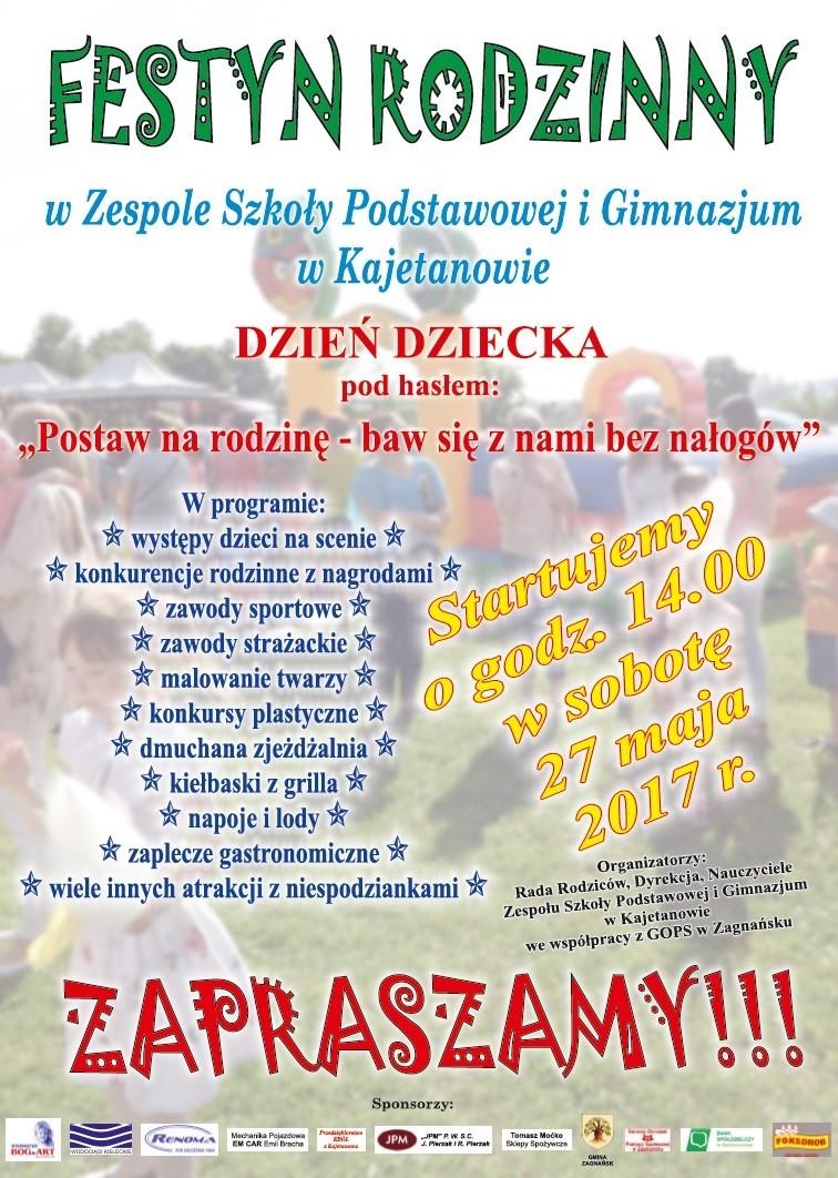 Festyn Rodzinny wZespole Szkoły Podstawowej iGimnazjum wKajetanowie